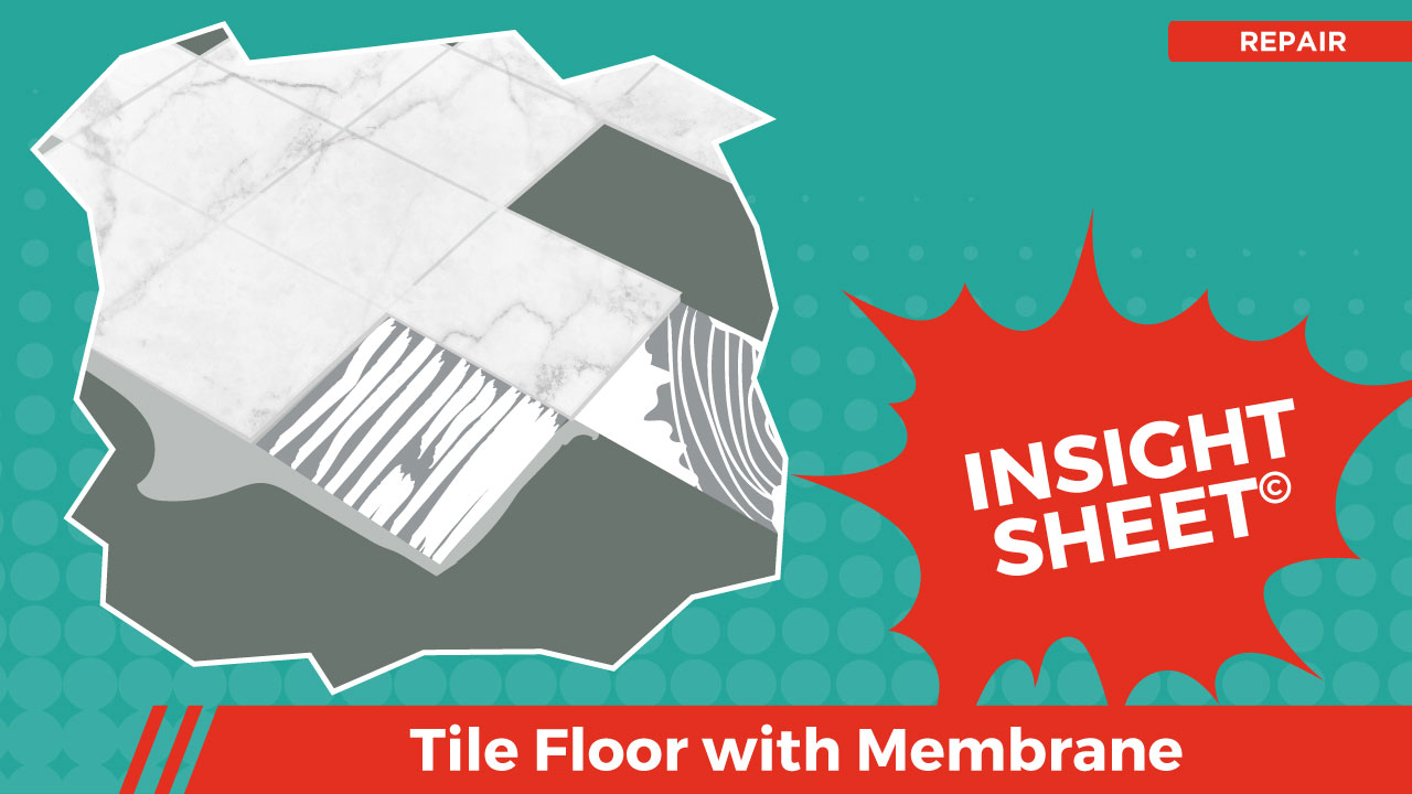 Actionable Insights Tile Floor with Membrane