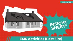 Actionable Insights EMS Activities (Post Fire)