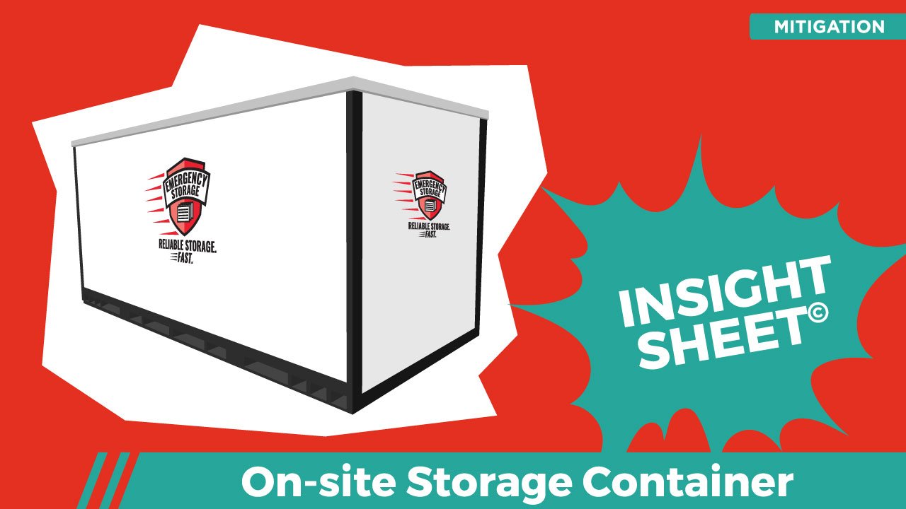 On site Storage Container Insight Sheets Database Actionable Insights