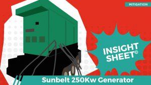 Actionable Insights Sunbelt 250k Generator