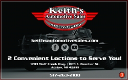Keith's Automotive Sales (E. Beecher - Adrian)