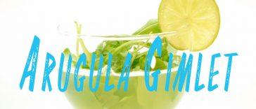 Arugula Gimlet Cocktail