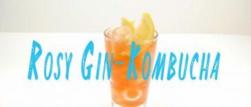 Rosy Gin Kombucha Cocktail