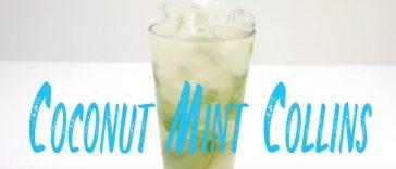 Coconut Mint Collins Malibu Cocktail