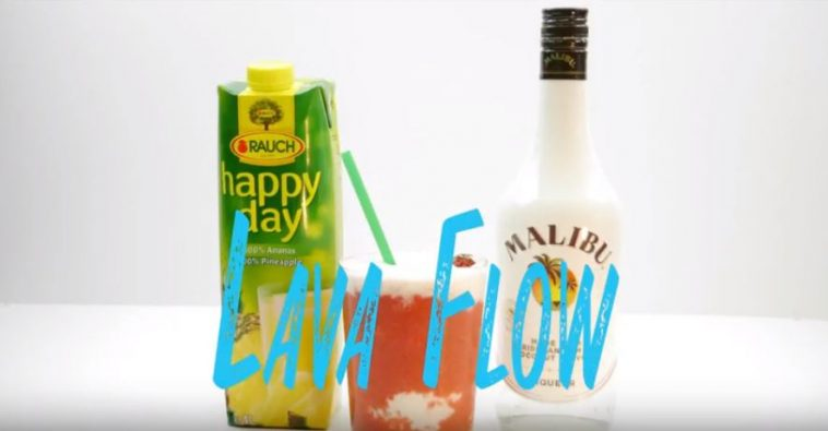 Lava Flow Cocktail