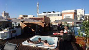 Rooftop bar at Palacio de los Duques