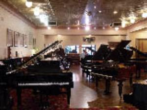 Large range of exclusive pianos