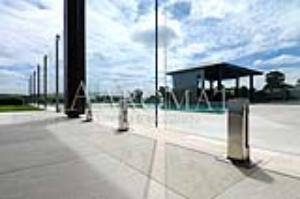 Frameless Glass with Stainless Steel Mini Posts