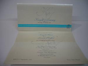 Ribbon with Buckle Invitation