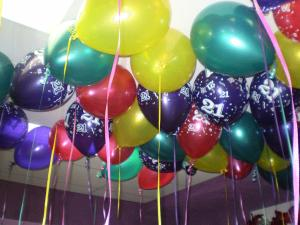 21st birthday party helium party balloons