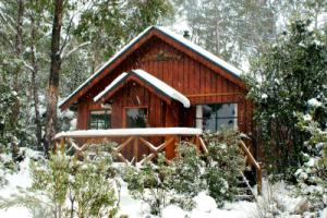 Tallow-wood cottage in winter