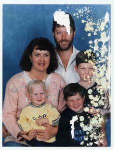 Water-damaged Family Portrait