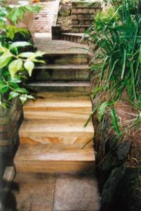Sandstone stairs steam cleaning