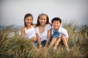 Kids at the beach. Photo by Kiss photography