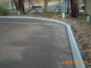 Carpark Edge layed on a Bitumen surface