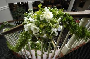 Wedding Entrance stairs Celebrant Pam Rolley