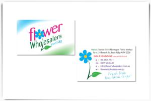 Flower Wholesalers logo and cards
