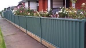 Colorbond with Sleeper Plinth