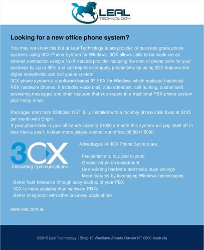 Office phone system by Leal Technology