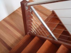 Timber staircases sanded and polished