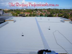 Flat colorbond roofs