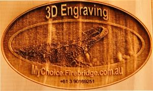 3D engraved timber