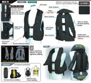 Harness type airbag vest MLV