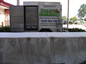 Bite Size Catering Set Up