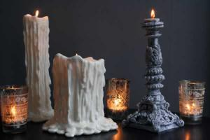 Bust and Corinthian candle