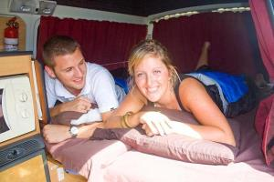 Waking up in the campervan