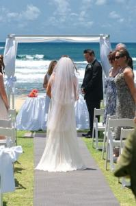 Beach Wedding Dicky Beach, Sunshine Coast Qld.