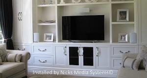 "An elegant system with a ""smart"" TV & speakers"