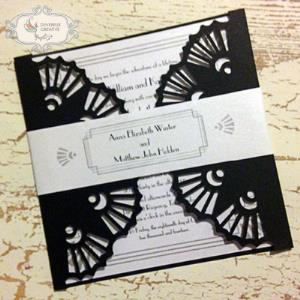 Wedding invitation - great gatsby style