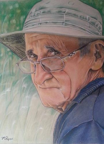 'Dad' 2016 Coloured Pencils on Paper