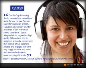 Pearson Education at Rooftop Recording Studio