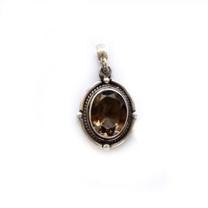 Antique Design Smokey Topaz Pendant