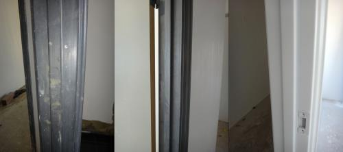 Door frame before after painting