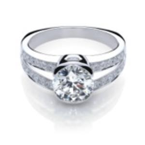 Split Shank Diamond Engagement Ring with 1 Carat