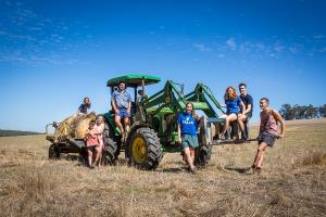 Farm Family with Tractor