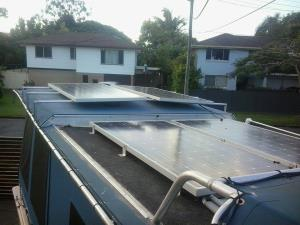 made and mounted solar frames for boat