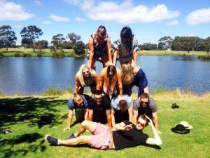 Human Pyramid at the end of the day!