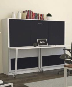 The Computer Desk Wall Bed - Double - Horizontal
