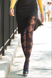 Alice and Olivia Argyle Tights