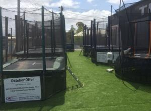Trampoline Display Geelong - Round and Rectangle