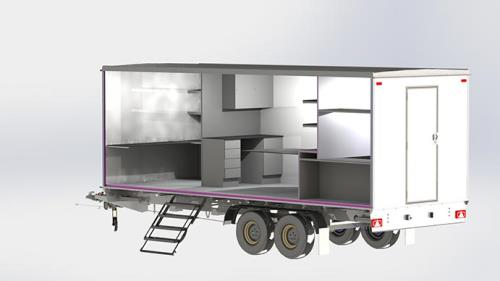 Transportable offices, mobile trailers