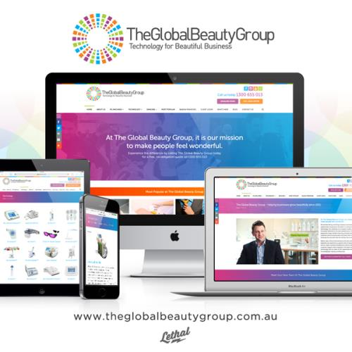 The Global Beauty Group - Web Design Perth