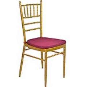 Gold Tiffany Chair with Dark Red Cushion