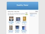 View More Information on Healthy Water
