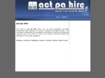 View More Information on A.C.T. Pa Hire