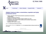 View More Information on Abbotts Valuers